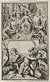 Proefdruk of ontwerp voor onbekende titelprent, zonder boektitel, met afbeelding van Willem III en Maria Stuart die door de Faam worden gelauwerd. NL-HlmNHA 53008790.JPG