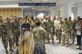 The Puerto Rico National Guard and other officials establish the action plan for COVID-19 screening at Luis Muñoz Marín International Airport