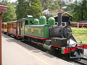 Puffing Billy Railway - Image: Puffing Billy Lok 6A (2)