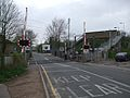 Purfleet station level crossing look southwest.JPG