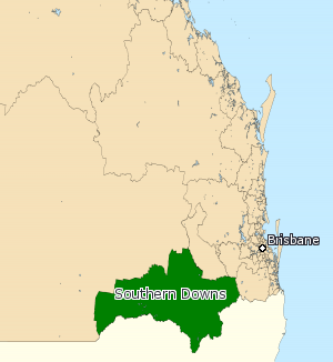 Electoral district of Southern Downs - Electoral map of Southern Downs 2008