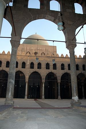 Al-Mansur Qalawun - Al-Nasir Muhammad Mosque in Cairo, which was commissioned by an-Nasir Muhammad, Qalawun's son, in 1318.