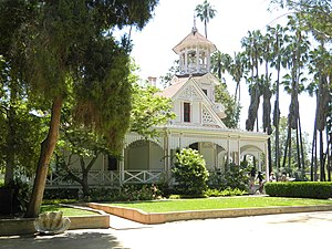 Fantasy Island - Queen Anne Cottage and Coach Barn in Arcadia, California.