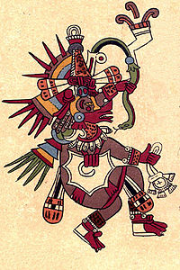 Quetzalcoatl as depicted in the Codex Borbonicus.