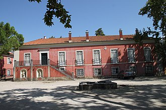 Manor of Lagares d'El-Rei - The front facade of the manor house