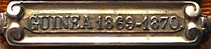 Dutch Gold Coast expedition of 1869–70 - Remembrance buckle for the expedition