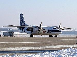 RAF Avia Antonov 26B at Zweibrucken airport.JPG