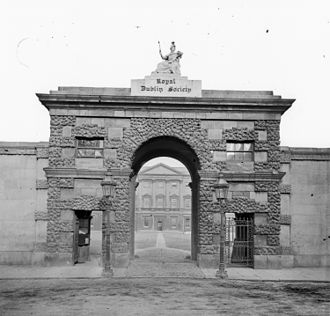 Royal Dublin Society - Entrance arch to Leinster House, home of the RDS, c.1863–1880.