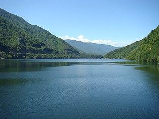 Lotru river in Romania