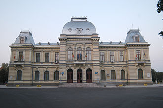 Râmnicu Sărat County - Râmnicu Sărat County prefecture office during the interwar period, now used as Râmnicu Sărat city hall.