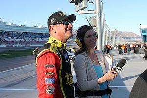 Krista Voda - Voda interviews Clint Bowyer at Las Vegas Motor Speedway in 2014