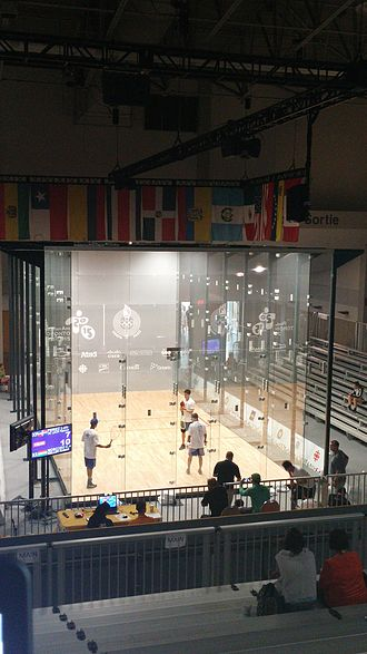 Pan American Games sports - The Racquetball competition held during the Toronto 2015 Pan American Games, one of the non-Olympic sports played on the sports program.
