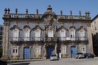 Raio Palace building in Braga, Braga District, Portugal