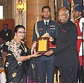 Ram Nath Kovind presenting the Sangeet Natak Akademi's Fellowships (Akademi Ratna) and Sangeet Natak Akademi Awards (Akademi Puraskar) for the year 2016, at the investiture ceremony, at Rashtrapati Bhavan, in New Delhi.jpg