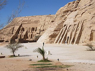 Abu Simbel UNESCO World Heritage Site in southern Egypt