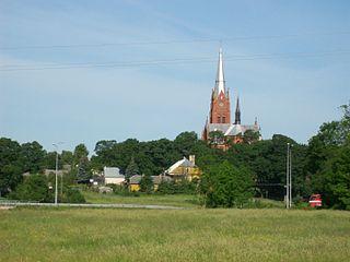 Ramygala City in Aukštaitija, Lithuania