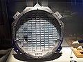 Raquette d'aérogel de la sonde Stardust, exposition Météorites, Muséum national d'histoire naturelle de Paris.jpg