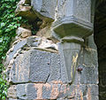 Rathmullan Priory Tower NW Corbel 2009 09 25.jpg