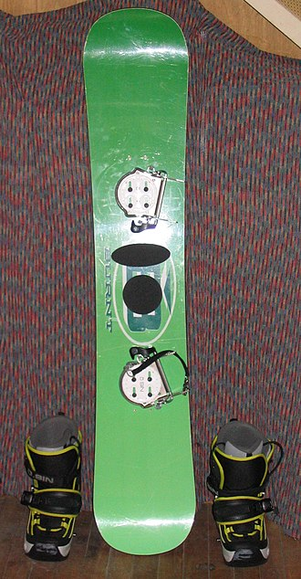Snowboard - Snowboard with step-in bindings and boots