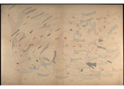 Red Horse pictographic account of the Battle of the Little Bighorn, 1881. 0600