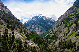Red Mountain Pass between Silverton, Colorado ...