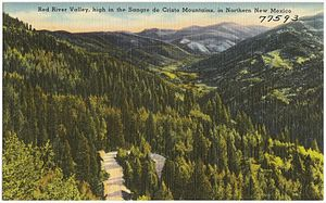 Enchanted Circle Scenic Byway - Image: Red River Valley, high in the Sangre de Cristo Mountains, in Northern New Mexico