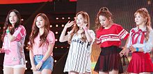 Red Velvet at Incheon Hallyu K-pop Concert in October 2015 01.jpg