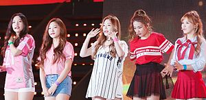Red Velvet (band) - Red Velvet at the Incheon Hallyu K-pop Concert in October 2015