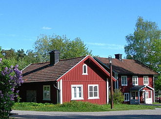 Mälaren Valley - Red cottages that are typical of the Mälaren Valley