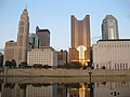 Reflecting Columbus Skyline at Sunset.jpg
