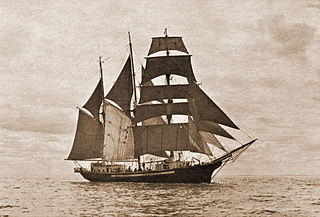 three-masted topsail schooner