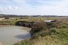 Remains of Tide Mills mill race sluice - seaward side.jpg