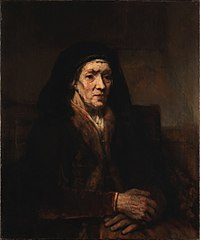 Portrait of a Seated Old Woman with Clasped Hands