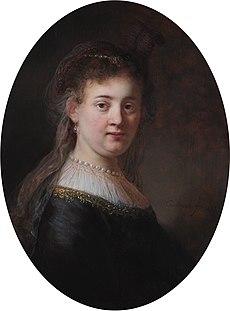 Saskia door Rembrandt. (Rijksmuseum Amsterdam)
