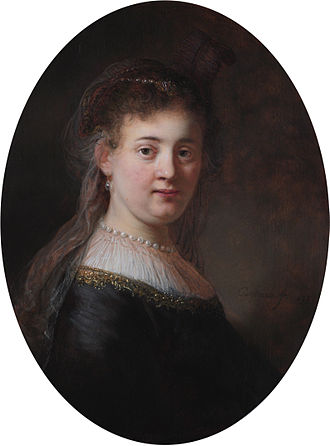 Saskia van Uylenburgh - Saskia by Rembrandt. (Rijksmuseum, Amsterdam)