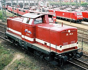 DB Class V 100 - 212 375 in April 2004 as a privately hired loco in Mannheim