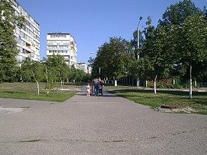 Ukrainka, Kiev Oblast - Image: Residential area in Ukrainka