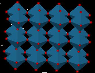 Rhenium trioxide - ReO3 polyhedra