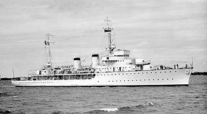 Bougainville-class aviso - Image: Rigault de Genouilly SLV Green 1938