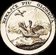 "Phönix, Rinasce piu gloriosa (""Er entsteht neu in größerem Glanz"")"