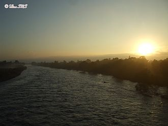 Poza Rica - Cazones River Sunrise on the banks of the city of Poza Rica