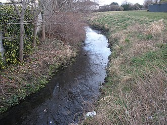 River Poddle - River Poddle in Templeogue looking downstream
