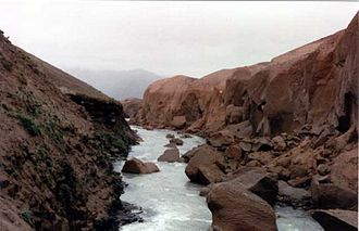 Valley of Ten Thousand Smokes - Canyon cut in ash by River Lethe