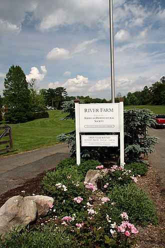 American Horticultural Society - AHS sign at River Farm