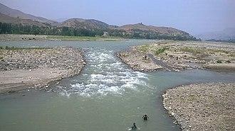 Dir District - River panjkora flow through the region