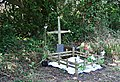 Roadside Shrine by the old A39 - geograph.org.uk - 232082.jpg