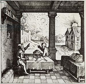 "Robert Fludd - ""An Astrologer Casting a Horoscope"", from Robert Fludd's Utriusque Cosmi Historia, 1617"