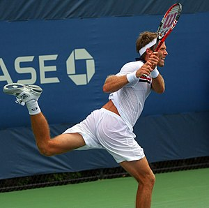 Robert Lindstedt - Robert Lindstedt at the 2010 US Open
