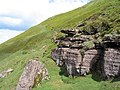 Rock outcrop on northern slope of Hay Bluff - geograph.org.uk - 437243.jpg