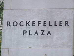 English: Nameplate of Rockefeller Plaza